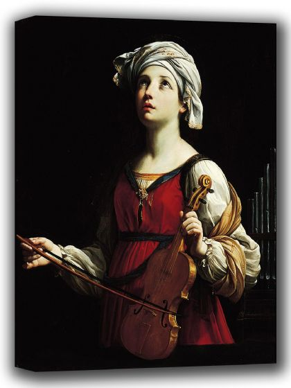 Reni, Guido: Saint (Santa) Cecilia. Fine Art Canvas. Sizes: A4/A3/A2/A1 (002100)
